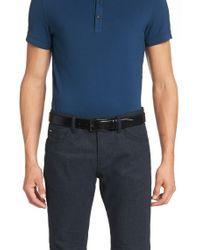 BOSS - Blue 'carmello' | Shiny Leather Belt for Men - Lyst