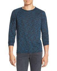 John Varvatos | Blue Raglan Sleeve Crewneck T-shirt for Men | Lyst