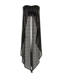 TOPSHOP - Black Sequin Maxi Cape Crop By Lavish Alice - Lyst