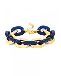 BaubleBar | Blue Gilt Resin Links | Lyst