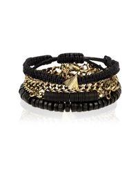 River Island | Black Ethnic Beaded Bracelets Pack for Men | Lyst