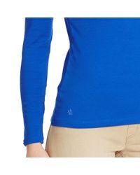 Ralph Lauren - Blue Stretch Cotton Boatneck Top - Lyst