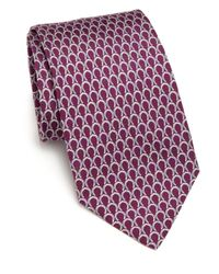Ferragamo | Purple Horseshoe Silk Tie for Men | Lyst