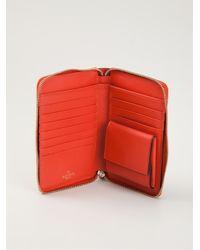 Valentino - Red 'Rockstud' Wallet - Lyst
