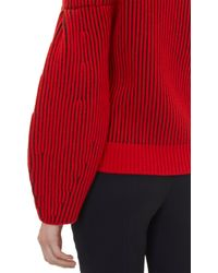 Givenchy - Red Two-Tone Pullover Sweater - Lyst