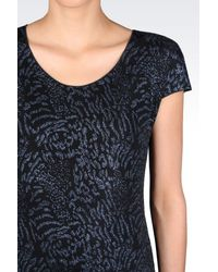 Armani | Blue Print T-shirt | Lyst