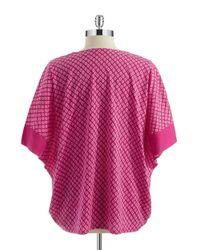 N Natori   Pink Chiyo Geometric Top   Lyst
