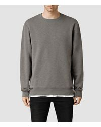 AllSaints | Gray Comanchero Crew Sweater for Men | Lyst