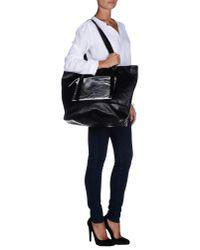 MM6 by Maison Martin Margiela - Black Shoulder Bag - Lyst