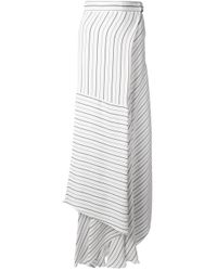 Chloé | White Asymmetric Striped Skirt | Lyst