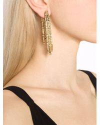 Oscar de la Renta | Metallic Waterfall Clip-on Earrings | Lyst