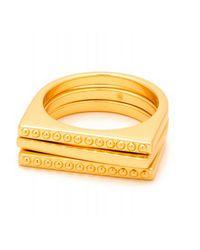 Gorjana   Metallic Bali Ring Set   Lyst