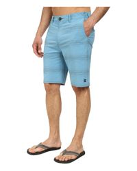 Billabong | Blue Crossfire X Stripe Hybrid Short for Men | Lyst