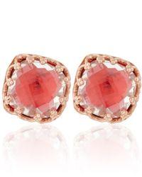 Larkspur & Hawk - Pink Small Clementine Topaz Jane Stud Earrings - Lyst