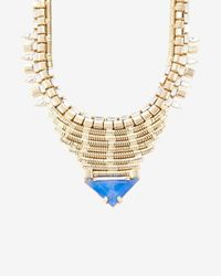 DANNIJO | Blue Ezra Stone/Crystal Necklace | Lyst