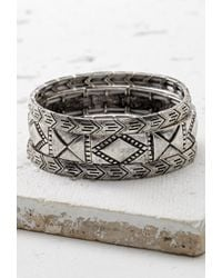 Forever 21 | Metallic Filigree Stretch Bracelet | Lyst