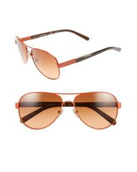 Tory Burch | Orange 57mm Aviator Sunglasses | Lyst