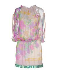 Patrizia Pepe | Purple Short Dress | Lyst
