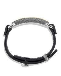 David Yurman - Waves Id Bracelet In Black for Men - Lyst