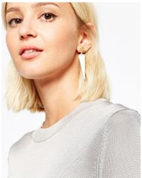 SELECTED - Metallic Turner Triangle Drop & Single Stud Multipack Earrings - Lyst