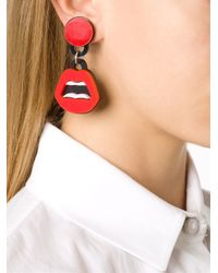 Yazbukey - Red Lips Clip-on Earrings - Lyst