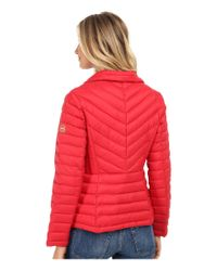MICHAEL Michael Kors - Red Diamond Quilt Coat - Lyst