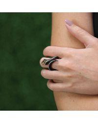 Arunashi - Black Diamond Carbon Fiber Snake Ring - Lyst