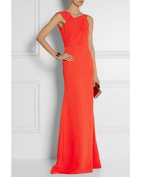 Roland Mouret | Red Parham Crepe Gown | Lyst
