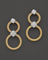 Charriol - Metallic Classique Diamond Drop Earrings, .11 Ct. T.W. - Lyst