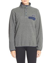 Patagonia | Gray 'synchilla' Fleece Pullover | Lyst