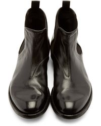 Officine Creative - Black Leather Archive Chelsea Boots for Men - Lyst