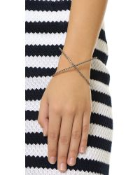 Michael Kors - Pink Pave X Statement Cuff Bracelet - Rose Gold/black - Lyst