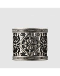 Gucci - Metallic Ring With Open Work Design - Lyst