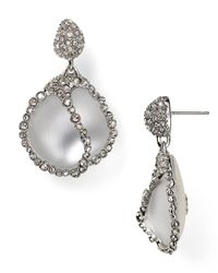 Alexis Bittar | Metallic Lucite Crystal Caged Pebble Post Earrings | Lyst