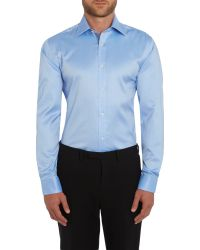 Ted Baker | Blue Kytrim Slim Fit Sheen Formal Shirt for Men | Lyst