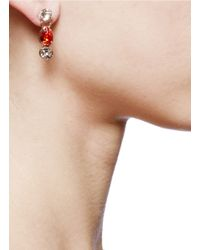 Valentino - Metallic Strass Earrings - Lyst
