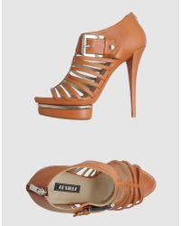 Le Silla | Brown Platform Sandals | Lyst