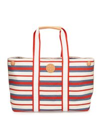 Tory Burch - Blue Printed Canvas East-West Tote - Lyst