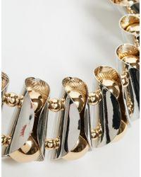 ASOS | Metallic Chunky Metal Beaded Collar Necklace | Lyst
