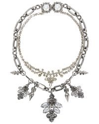 Mawi | Metallic Layered Silver Tone Necklace | Lyst