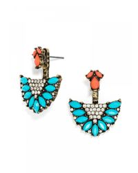 BaubleBar | Blue Maldives Ear Jackets | Lyst