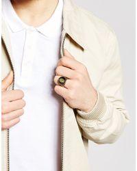 Icon Brand - Metallic Skull Ring for Men - Lyst