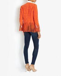 Barbara Bui | Suede Fringe Jacket: Orange | Lyst