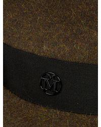 Maison Michel - Black Jim Showerproof Fur-felt Trilby for Men - Lyst