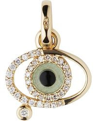 Links of London | Metallic Evil Eye 18ct Gold And Diamonds Charm - For Women | Lyst