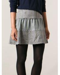 KENZO - Black 'white Noise' Skirt - Lyst