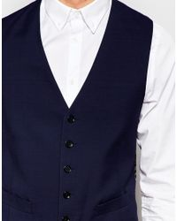 Number Eight Savile Row - Blue Exclusive 5 Button Wedding Waistcoat In Skinny Fit for Men - Lyst