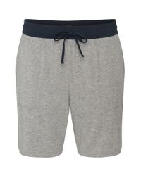 BOSS - Gray 'jersey Short Pant Cw' | Stretch Cotton Blend Shorts for Men - Lyst