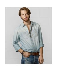 Denim & Supply Ralph Lauren | Blue Flag and Eagle Chambray Shirt for Men | Lyst