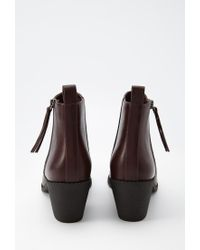 Forever 21 | Purple Zippered Faux Leather Booties | Lyst